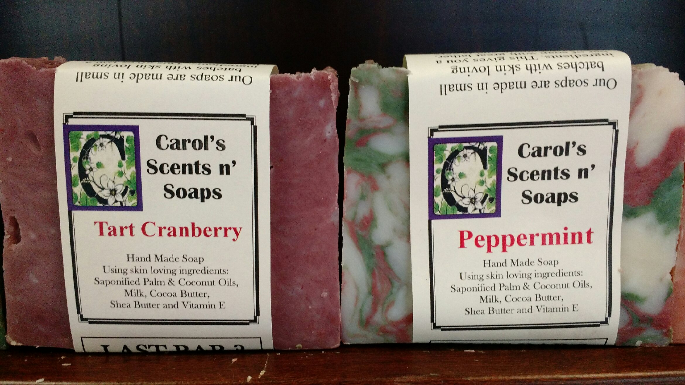 Fall Scents Soaps (Seasonal, Call for Availablitiy)